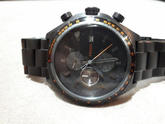 Relógio Masculino Original Fossil Chumbo Acetinado