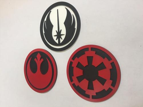 Imagen 1 de 10 de Star Wars Logos (orden Jedi, Alianza Rebelde E Imperio Galác