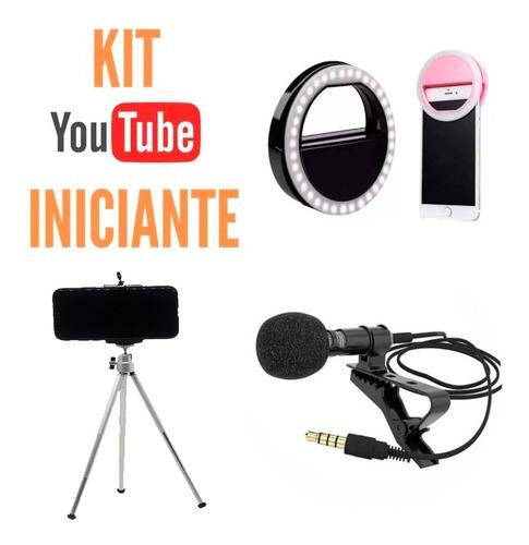Kit Acessórios Youtuber Iniciante Transmissão Vídeos Lives