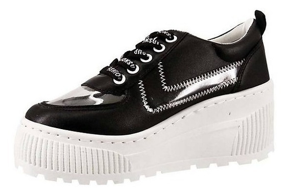 Zapatillas Con Plataforma Para Dama Modelo Urbano