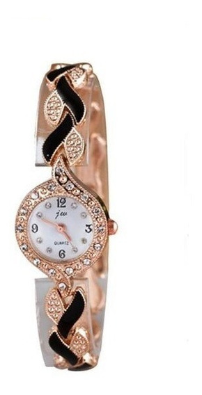 Relógio Feminino Jw De Quartzo Cristal Moda Casual