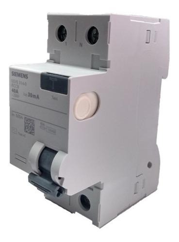 Interruptor Breaker Diferencial Siemens 2p 40a 30ma