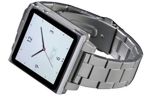 Hex Hx1026slvr Vision Metal Watch Band Para iPod Nano 6g Sil