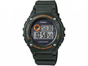 Relógio Masculino Casio Esportivo Digital W-216h-3bvdf Verde