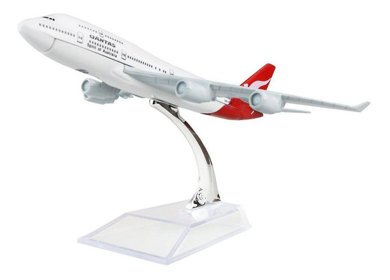 Qantas Airways - Miniatura Aeronave Comercial Boeing 747