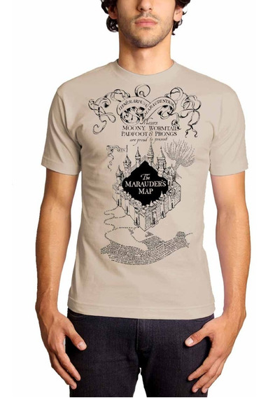 Camiseta Harry Potter Mapa Do Maroto Marauder´s Map