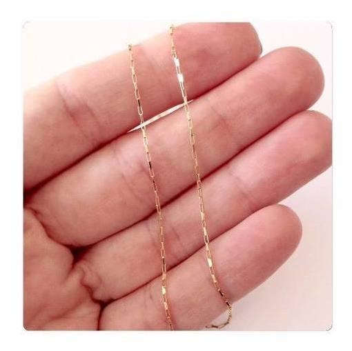 Promoção Pulseira Cadeado 20cm De Ouro 18k 750 Maciça