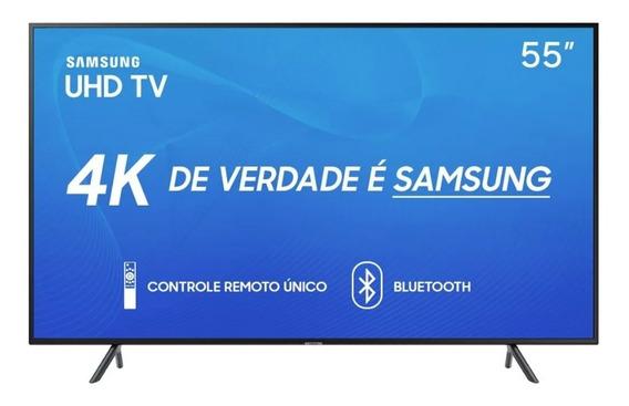 Smart Tv Led 55 4k Samsung 55ru7100 Preta Bivolt Pix90
