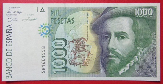 España Billete 1000 Pesetas Au 1992 Pick 161 Herman Cortes