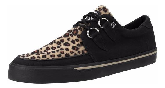 Sneakers Tenis Unisex Tuk A9181 Leopardo Punk Demonia Vegano