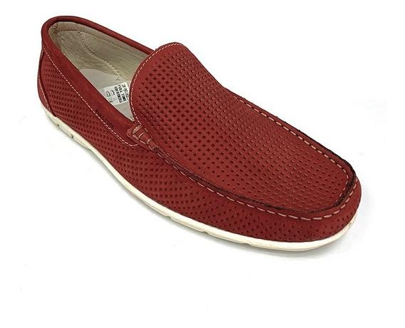 Zapatos Mocasines Full Time Caballero Rojo Ft 2601 Corpez 48