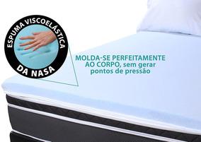 Pillow Top Casal De Espuma 4cm Viscoelástico Gel Sense Nasa