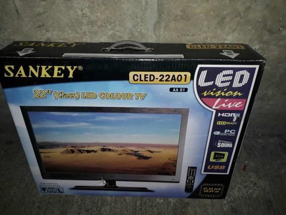 Televisor Sankey 22 Pulgadas Led Económico
