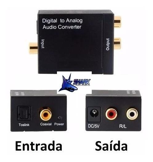 Conversor Audio Optico Digital Fibra Coaxial P Rca Analogico