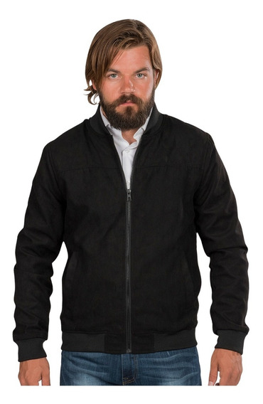 Chamarra Hombre Bomber Jacket Gamuza Ligera Casual Moda
