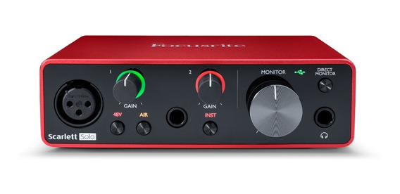 Interface De Audio Scarlett Solo Geração 3 - Focusrite +nf