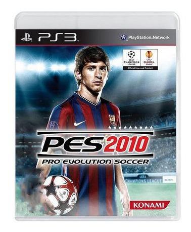 Jogo Pro Evolution Soccer 2010 Ps3 Pes10 Mídia Fisica