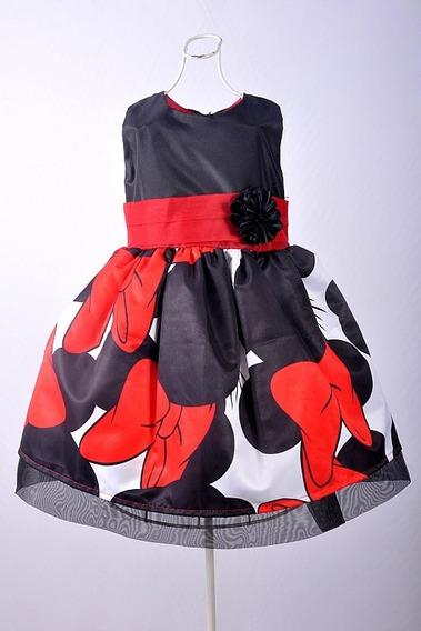 Vestido Infantil De Festa Da Minnie Luxo