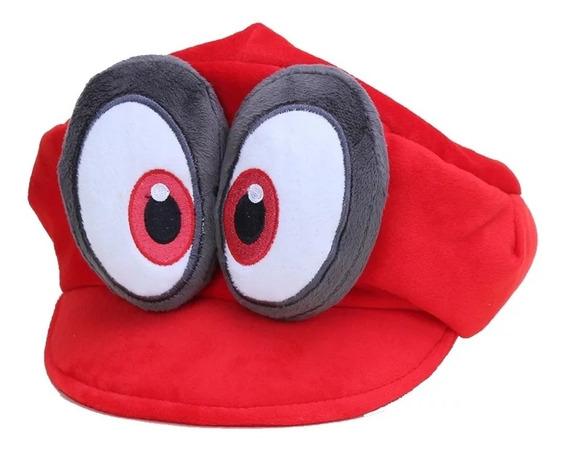 Gorra De Felpa Niños Tipo Super Mario Bros Odyssey Cappy.