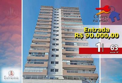Apartamento De 1 Dormitório Sendo 1 Suite Em Praia Grande, R$90.000,00 De Entrada E Chaves Na Mão. - Ap0998