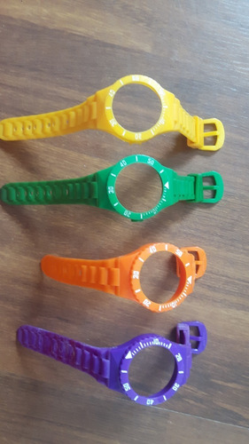 Lote De Pulseiras Antigas Para Relógio Swatch (anos 80)