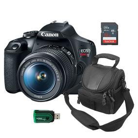 Câmera Canon T7 + Bolsa+ Leitor De Cartão+ Cartão De Memória