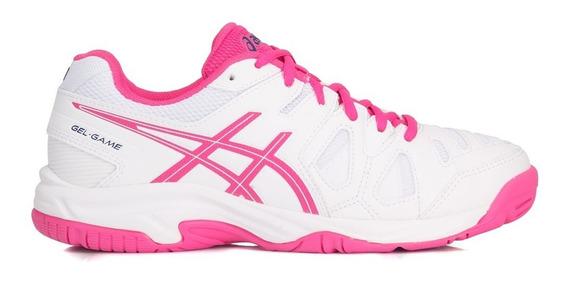 Tênis Asics Infantil Gel Game 5 Branco E Pink