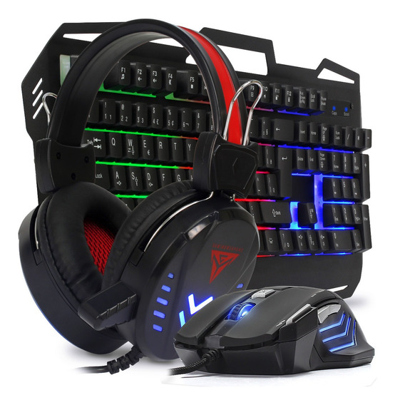 Kit Teclado Phone Mouse Pc Gamer Led Usb Metal Jogos Barato
