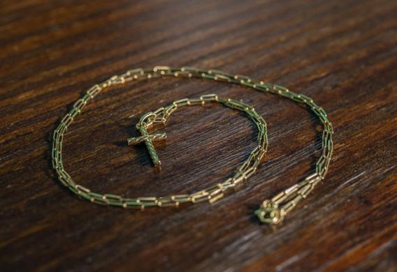Corrente E Crucifixo De Ouro