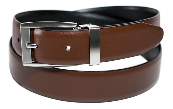 Cinturon Doble Vista Colores Piel Cuero Correa Fajo Talla 34