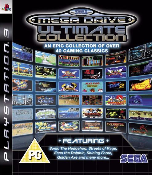 Mega Drive Ultimate Collection Ps3 Midia Fisica Usado