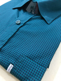 Nº 8 Camisa Masc. Petróleo 100%algodão - M. Curta Plus Size