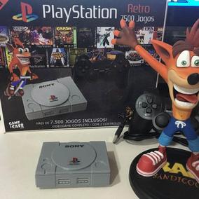 Mini Ps1 Playstation 1 Retro 7500 Jogos 2 Controles