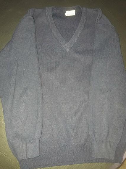 Sweaters Puloveres Azules De Colegio Escote En V