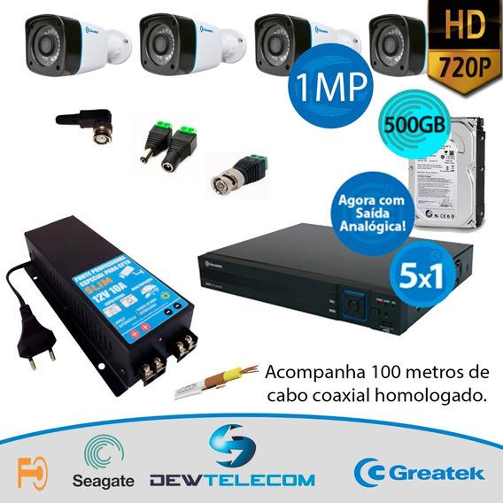 Kit Cftv 4 Cameras Completo Multi Hd 720p