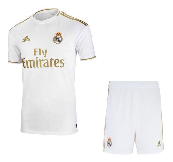Conjunto Infantil Do Real Madrid 19/20 Oficial - Promoção