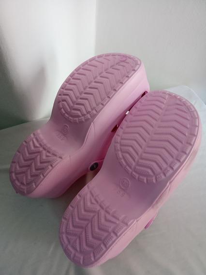 Zuecos De Goma Con Plataforma, Crocs Mujer
