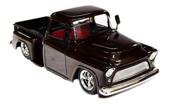 Miniatura 1:24 Chevy 3100 Stepside 1955 Tunado Jada Marrom