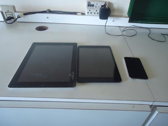 iPad Mini 3g + iPad 4 So Wifi + iPod 4ª Geração De Leilão
