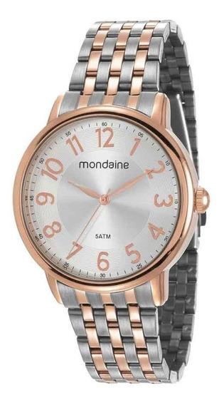 Relógio Feminino Mondaine Com Pulseira Prata 53673lpmvge3ka