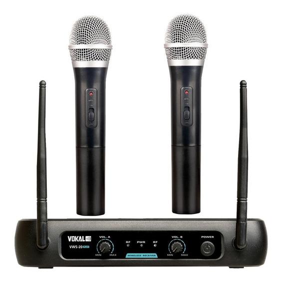 Microfone Sem Fio Duplo - Vokal Vws20 Plus (novo)