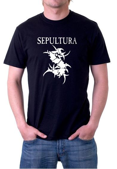 Camiseta Banda Sepultura Camisa Rock In Rio 100% Algodão