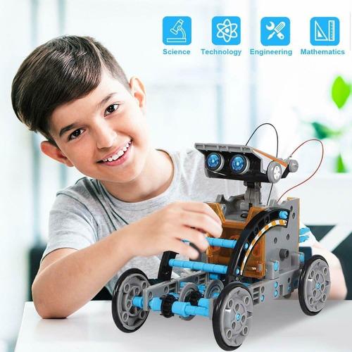 Juguete Robot Solar Armable 12 En 1, Ciencia Stem
