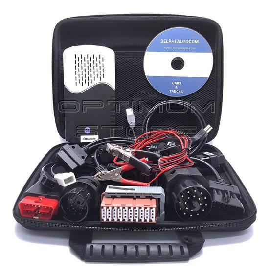 Scanner Automotivo Delphi Autocom Bluetooth Obd2 + Kit 8 Cabos Linha Leve Carro - Ds150e Premium