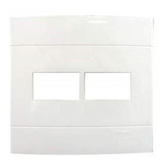 Placa 4x4 2 Postos Separados Branco Puro