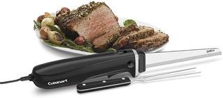 Cuchillo Electrico Cuisinart + Tenedor + Base Madera