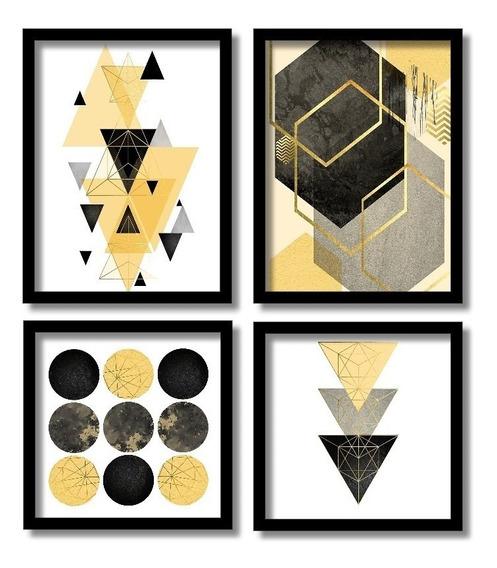 Quadros Decorativos Geométricos Coloridos Com Moldura
