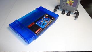 Mega Man X Original Sns-rx-usa Custom Carcasa Y Label Snes
