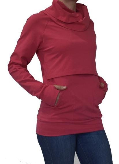 Sudadera Para Embarazo Y Lactancia Color Coral Emma
