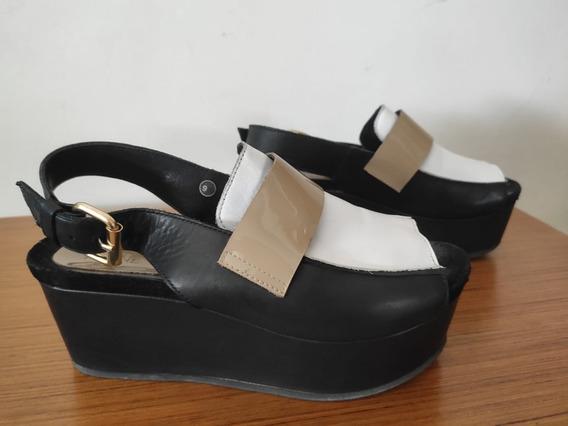 Zapato De Cuero - Prune